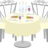 結婚式の食事イメージイラスト